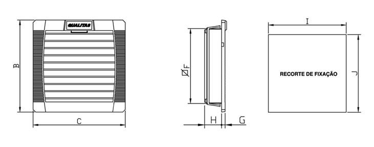 Dados técnicos do Conjunto Filtrante Q150